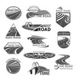 road travel company agency template icons vector image