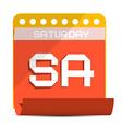 Saturday Paper Calendar vector image
