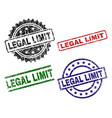 scratched textured legal limit stamp seals vector image vector image