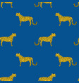 seamless pattern with leopards jaguar vector image