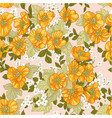 seamless pattern yellow wildflowers vector image vector image
