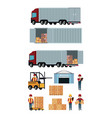 set of delivery and cargo icons vector image