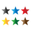 set stars color on white background colorful vector image vector image
