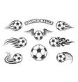 Soccer Balls Set vector image