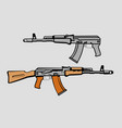 soviet assault rifle vector image