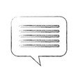speech bubble message chat dialog media vector image vector image