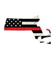 state massachusetts firefighter support flag vector image vector image