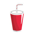 tasty soda drink beverage vector image