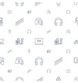 technology icons pattern seamless white background vector image vector image