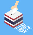 thai general election 2018 vector image vector image