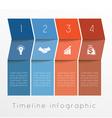 timeline 4 vector image