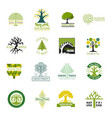 tree logo treetops logotype of fir-tree or vector image vector image
