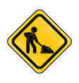 under construction traffic signal icon vector image vector image