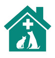 veterinary sign symbol vector image vector image
