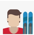 Winter design Sport icon Colorful vector image vector image