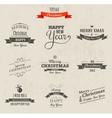 Christmas set - labels emblems and elements vector image