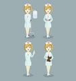 medical doctor nurse set vector image
