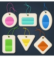 Set of color bubbles stickers labels tags vector image