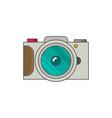 photo camera icon modern minimal flat design style vector image