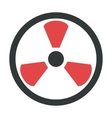 Radiation warning attention sign icon vector image