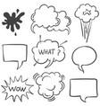 text balloon white background doodle style vector image