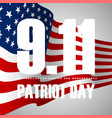 911 patriot day background american flag stripes vector image vector image