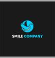 blue swan fun dental logo template