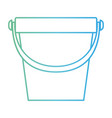 bucket with handle in degraded green to blue color vector image