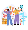 business people man woman characters vector image vector image