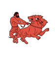 capture and bring back cerberus 12 labours vector image