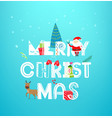 christmas artistic greeting card concept banner vector image vector image