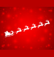 christmas reindeers are carrying santa claus vector image vector image