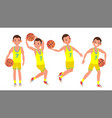 classic basketball player man sports vector image