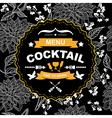 cocktail bar menu template design