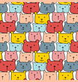 cute bears pattern background vector image vector image