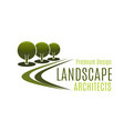 design landscape architects badge vector image vector image
