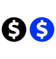 dollar glyph icon vector image vector image