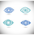 eye icons set vector image vector image