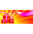 Festive background with gifts vector image vector image