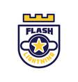 flash lightning logo template design element vector image vector image