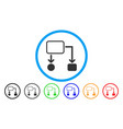 flowchart scheme rounded icon vector image