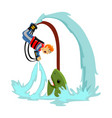 fly board water extreme sports isolated design vector image vector image