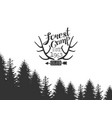 forest camp logo template hunting club monochrome vector image