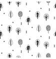 forest trees scandinavian seamless pattern vector image vector image