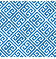 Greek key seamless pattern background in blue and