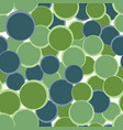 green blue circles seamless pattern abstract vector image vector image