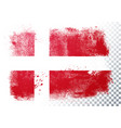 grunge and distressed flag denmark vector image vector image