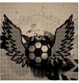 Halftone Soccer vector image