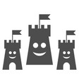 happy bulwark flat icon vector image vector image