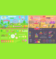 healthy and unhealthy parks comparison infographic vector image vector image